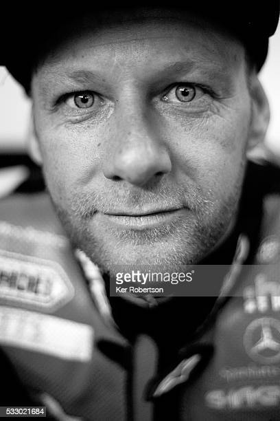 Shane Byrne of the Be Wiser Ducati team prepares to ride during practice for the British Superbike Championship at Brands Hatch on May 20 2016 in...
