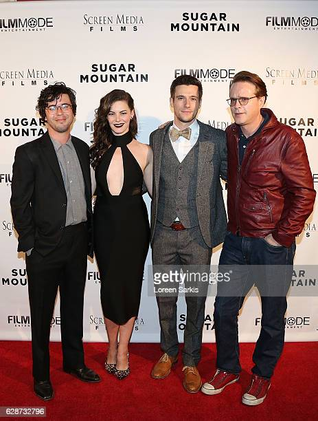 Shane Coffey Haley Webb Drew Roy and Carey Elwes arrive at the Premiere of Screen Media Films' Sugar Mountain at the Vista Theatre on December 8 2016...