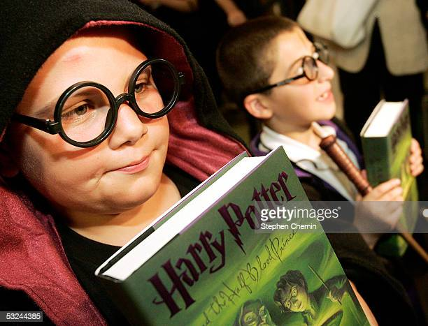 Shane Culver dressed as Harry Potter waited six hours to purchase the new Harry Potter book at Barnes and Noble in Union Square July 15 2005 in New...