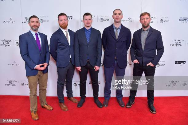Shane D Kavanaugh Arthur Mulhern Tom Dumican Jesse Lichtenstein and Stuart Miller attend a screening of 'No Greater Law' during the 2018 Tribeca Film...