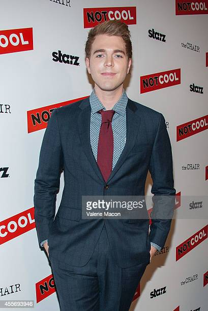 Shane Dawson arrives at the Premiere Of Starz Digital Media's Not Cool at the Landmark Theater on September 18 2014 in Los Angeles California