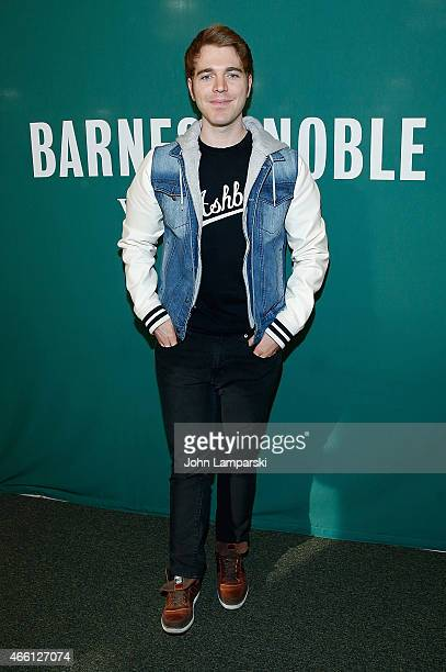 Shane Dawson promotes his new book I Hate Myselfie A Collection of Essays by Shane Dawsonat Barnes Noble Union Square on March 13 2015 in New York...