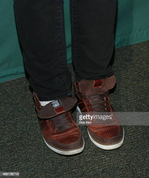 Shane Dawson shoe detail promotes his new book I Hate Myselfie A Collection of Essays by Shane Dawson at Barnes Noble Union Square on March 13 2015...