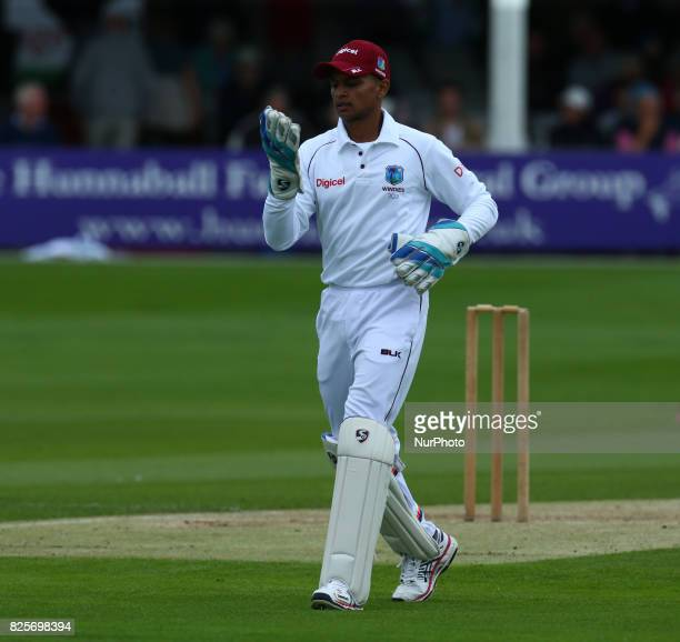 Shane Dowrich of West Indies during the Domestic First Class Multi - Day match between Essex and West Indies at The Cloudfm County Ground in...