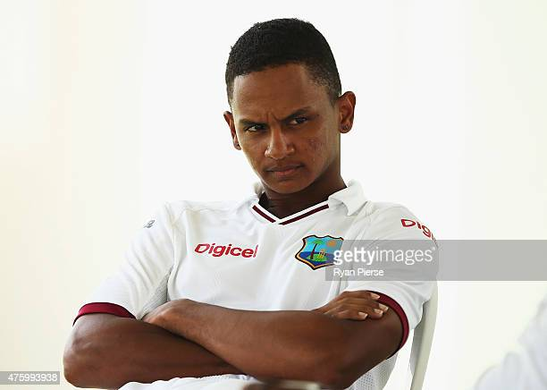 Shane Dowrich of West Indies looks on during day three of the First Test match between Australia and the West Indies at Windsor Park on June 5, 2015...