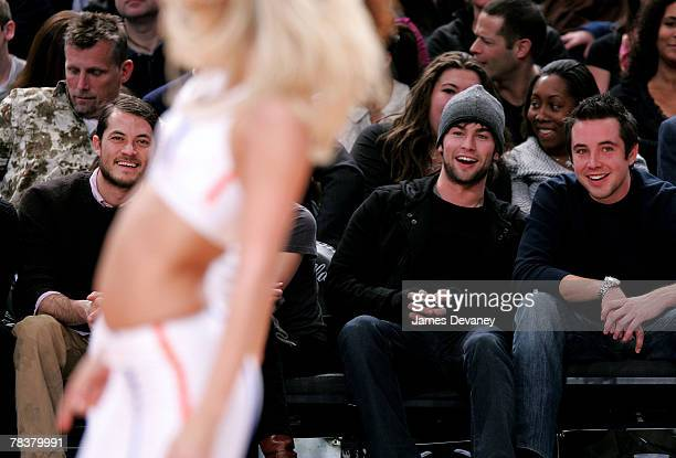 Shane Dreary and Chace Crawford attend Dallas Mavericks vs New York Knicks game at Madison Square Garden on December 10 2007 in New York City New York