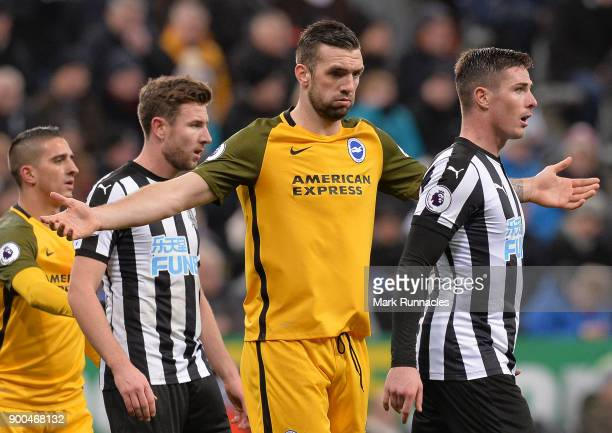 Shane Duffy of Brighton and Hove Albion in action during the Premier League match between Newcastle United and Brighton and Hove Albion at St James...