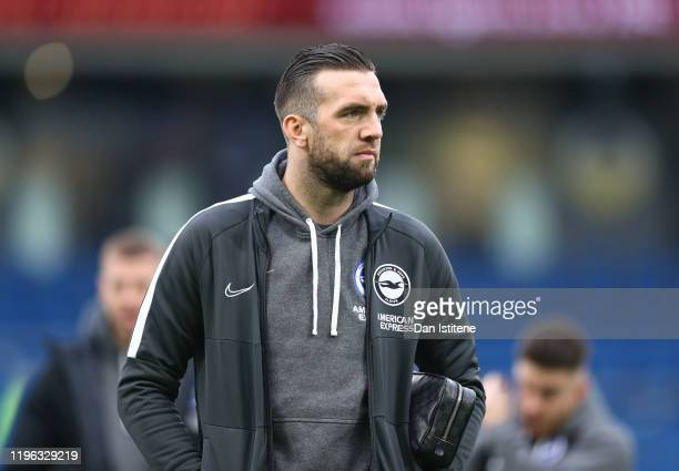 Shane Duffy of Brighton & Hove Albion arrives for the Premier League match between Brighton & Hove Albion and AFC Bournemouth at American Express...