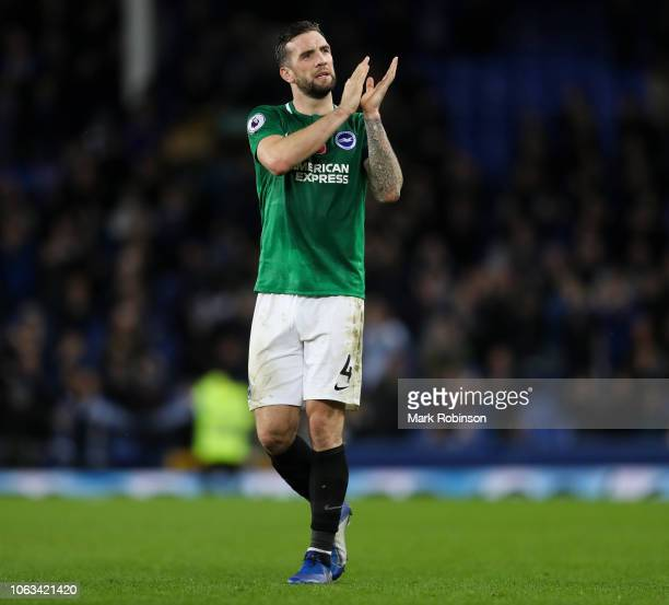 Shane Duffy of Brighton Hove Albion during the Premier League match between Everton FC and Brighton Hove Albion at Goodison Park on November 3 2018...