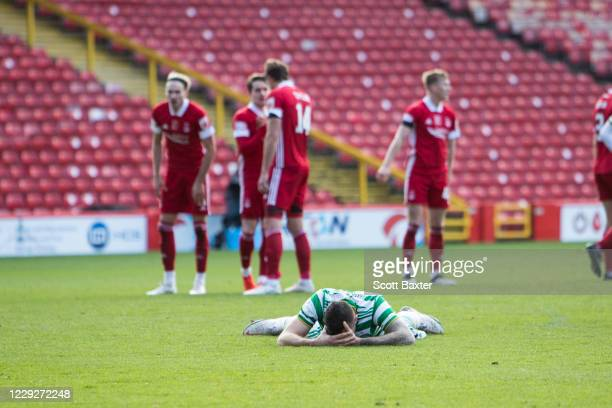 Shane Duffy of Celtic during the Ladbrokes Premiership match between Aberdeen and Celtic at Pittodrie Stadium on October 25 2020 in Aberdeen Scotland...