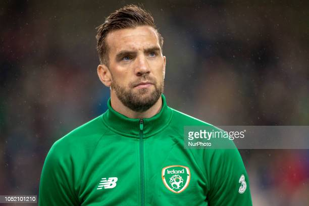 Shane Duffy of Ireland during the UEFA Nations League B match between Republic of Ireland and Denmark at Aviva Stadium in Dublin Ireland on October...