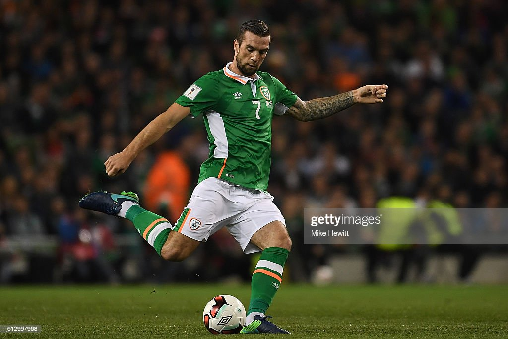 Shane Duffy of Ireland in action during the FIFA 2018 World Cup Group D Qualifier between Republic of Ireland Georgia at the Aviva Stadium on October 6, 2016 in Dublin, Ireland.