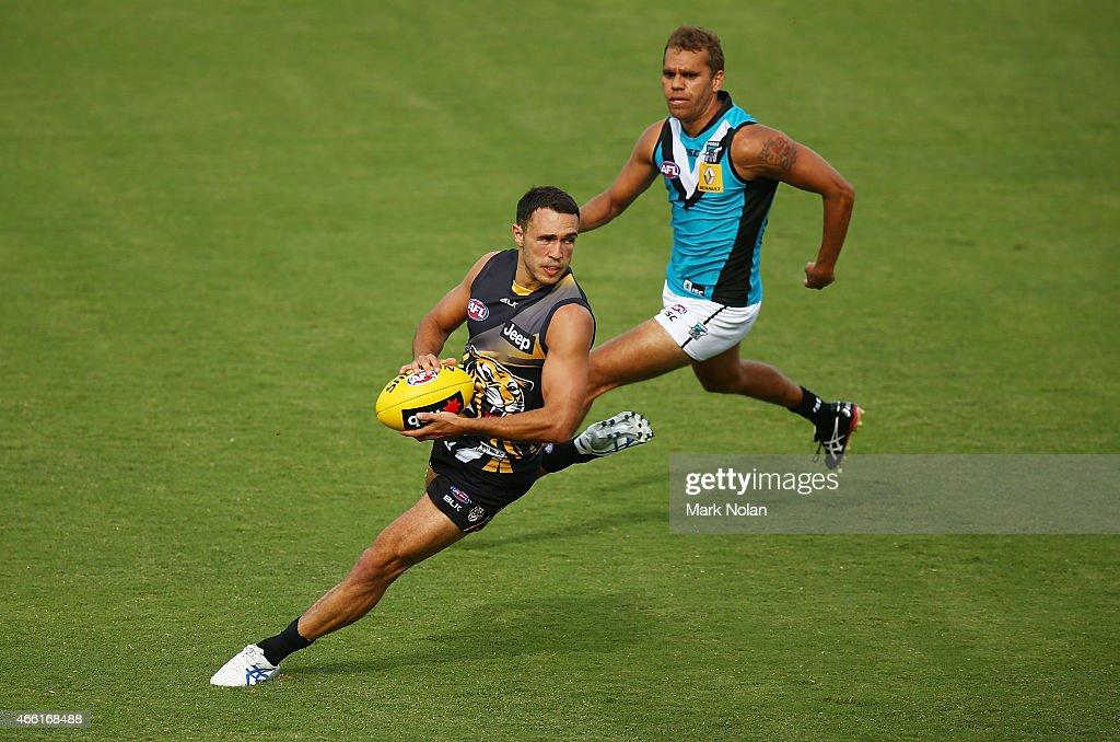 NAB Challenge - Richmond v Port Adelaide : News Photo