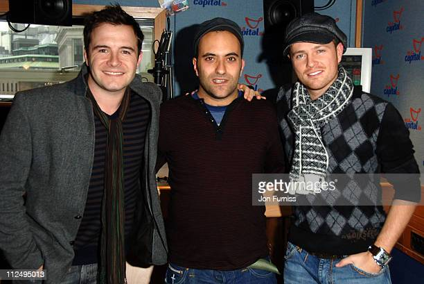 Shane Filan and Nicky Byrne of Westlife and Lucio from Capital FM
