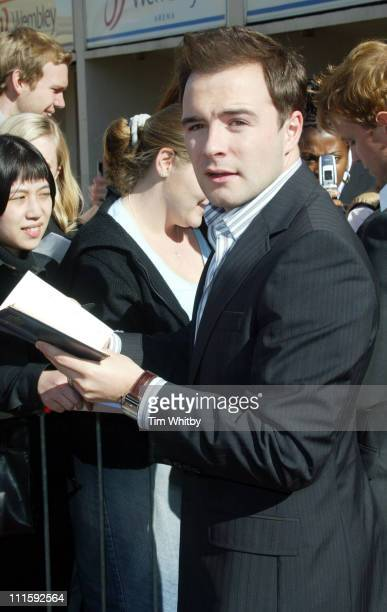 Shane Filan during Westlife Announce Plans for 'The Red Carpet Tour' at Front Entrance Wembley Arena in London Great Britain