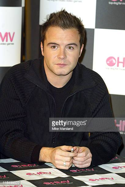 Shane Filan from Westlife during Westlife Signing Copies Of Their New Single 'Mandy' at HMV Trocadero Piccadilly Circus in London Great Britain