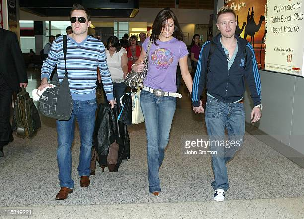 Shane Filan Georgina Byrne and Nicky Byrne of Westlife