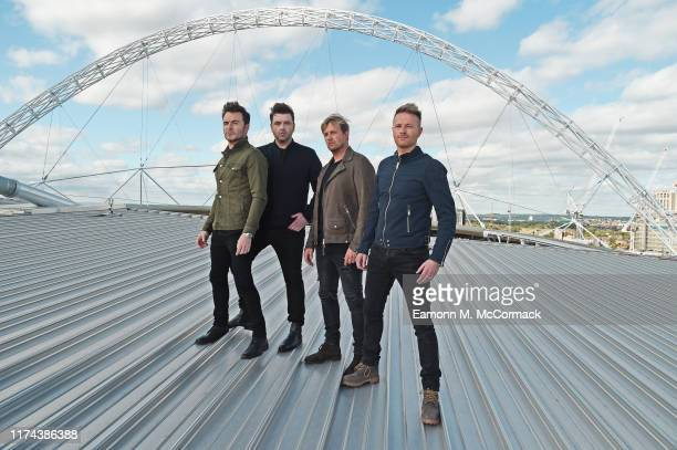Shane Filan, Mark Feehily, Kian Egan and Nicky Byrne of Westlife announce first every show at Wembley Stadium on September 12, 2019 in London,...