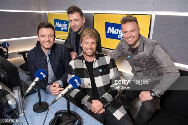 Shane Filan Mark Feehily Kian Egan and Nicky Byrne of Westlife visit Magic Radio on January 09 2019 in London England