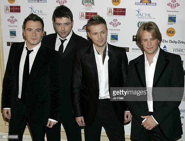Shane Filan Mark Feehily Nicky Byrne Kian Egan of Westlife attends the VIP reception at the Sony Entertainment Television Asian Sports Personality Of...