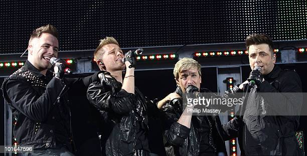 Shane Filan Nicky Byrne Kian Egan and Mark Feehily of Westlife performs at Croke Park on June 5 2010 in Dublin Ireland