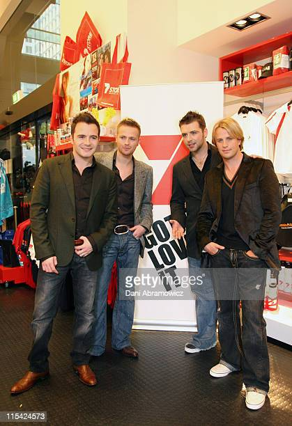 Shane Filan Nicky Byrne Mark Feehily and Kian Egan of Westlife