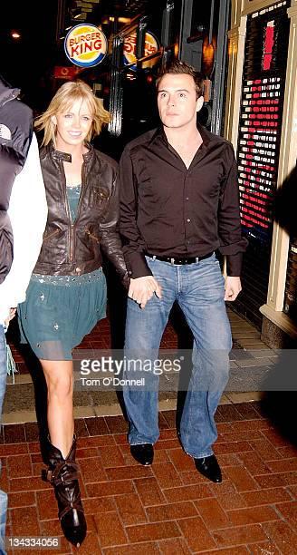 Shane Filan of Westlife and wife Gillian Filan during Westlife Sigthing in Dublin November 6 2004 at Lillies Bordello in Dublin Ireland