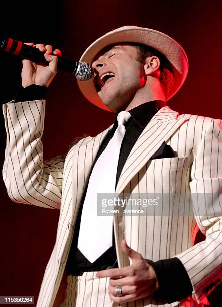 Shane Filan of Westlife during Westlife in Concert April 7 2004 at Nottingham Arena in Nottingham Great Britain