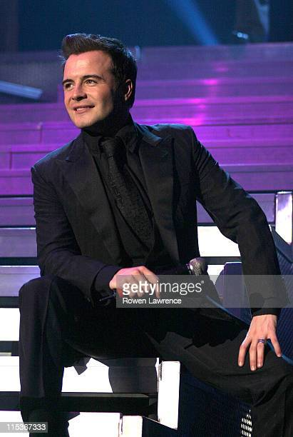 Shane Filan of Westlife during Westlife in Concert March 22 2005 at Nottingham Ice Arena in Nottingham Great Britain