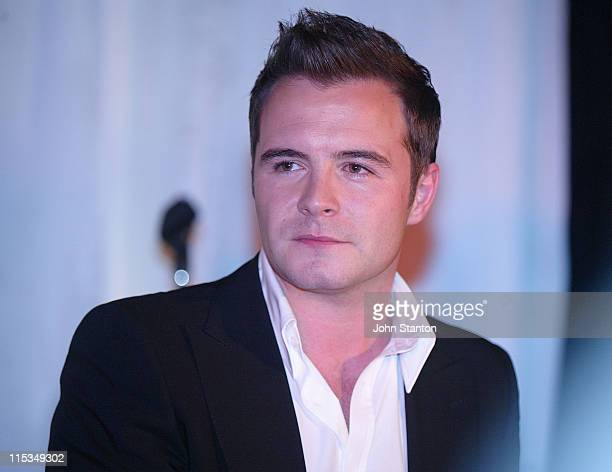 Shane Filan of Westlife during Westlife Showcase Performance at The Loft March 1 2006 at The Loft in Sydney NSW Australia