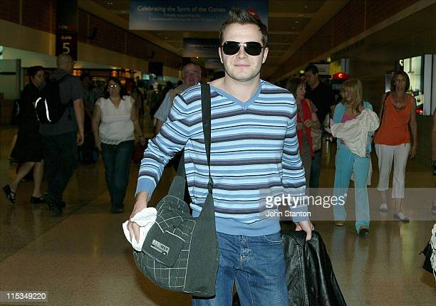 Shane Filan of Westlife during Westlife Sighting at the Sydney Airport March 1 2006 at Sydney Airport in Sydney NSW Australia