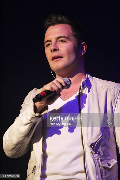 Shane Filan of Westlife during Westlife's Face to Face Asian Tour in Seoul at Jamsil Concert Hall in Seoul Seoul South Korea