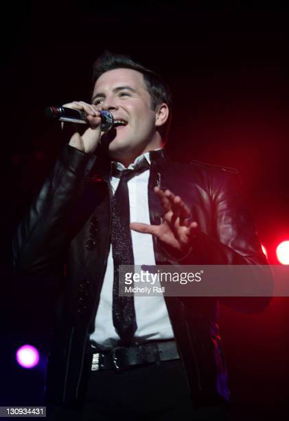 Shane Filan of Westlife performs during Westlife in Concert at The River Club in Cape Town March 9 2007 at The River Club in Cape Town South Africa