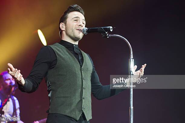 Shane Filan performs on stage as a solo artist for the first time at Eventim Apollo Hammersmith on March 7 2014 in London United Kingdom