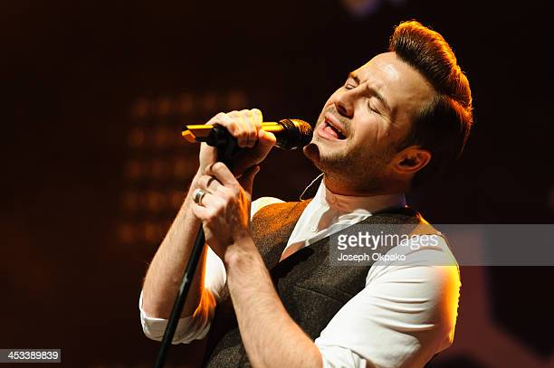 Shane Filan performs on stage for Magic Sparkle Gala at Indigo2 at O2 Arena on December 3 2013 in London United Kingdom