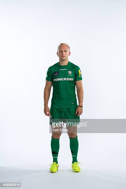 Shane Geraghty of London Irish poses for a picture during the BT PhotoShoot at Sunbury Training Ground on August 27 2014 in Sunbury England