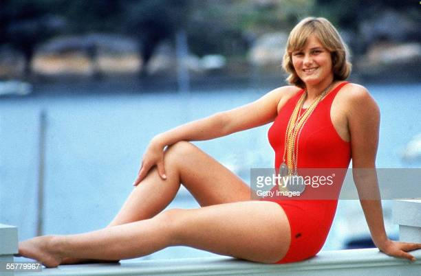 Shane Gould of Australia poses for a photo shot with her Olympic medals after the 1972 Olympic Games in Muncih Germany