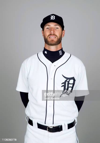 Shane Greene of the Detroit Tigers poses during Photo Day on Tuesday February 19 2019 at Publix Field at Joker Marchant Stadium in Lakeland Florida