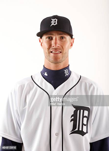 Shane Greene of the Detroit Tigers poses for a photo during the Tigers' photo day on February 28 2015 at Joker Marchant Stadium in Lakeland Florida