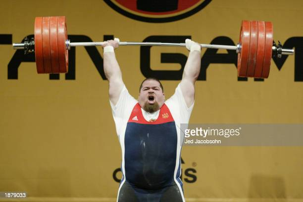 Shane Hamman of the USA yells while lifting 227 kg during the weightlifting portion of the Titan Games at the Events Center at San Jose State on...