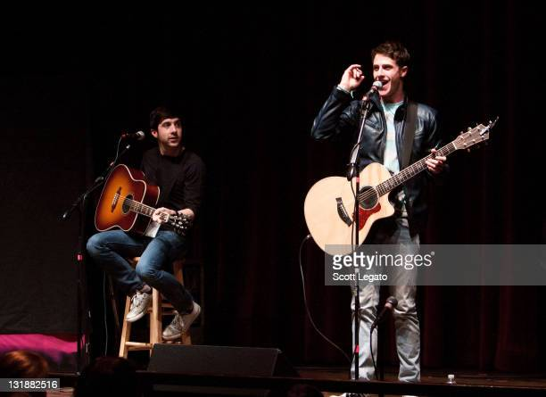 Shane Harper performs during the Waiting 4U tour at the Royal Oak Music Theater on April 17 2011 in Royal Oak Michigan
