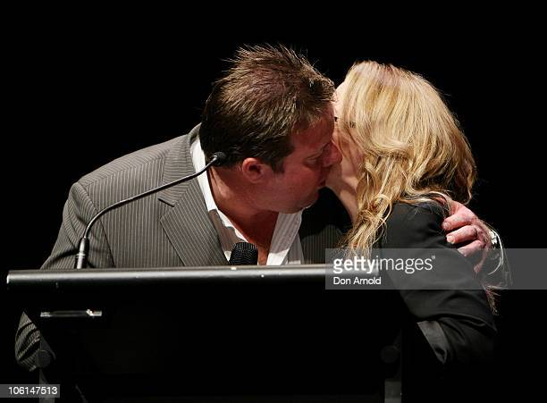 Shane Jacobsen and Jackie Weaver read out nominations during the 2010 AFI Awards Nominations Announcement event at Sydney Theatre on October 27 2010...