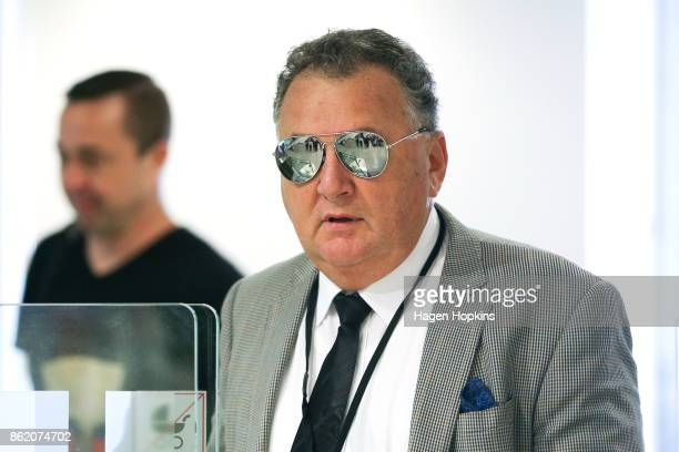 Shane Jones arrives for a NZ First caucus and board meeting at Parliament on October 17 2017 in Wellington New Zealand Neither the National nor...
