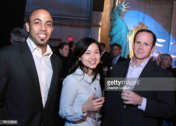 Shane Kelly Winnie Lau and Michael Hogan attend the 17th Annual Gotham Awards cocktail reception presented by IFP at Steiner Studios November 27 2007...
