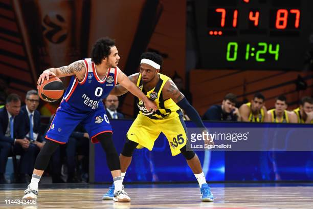 Shane Larkin #0 of Anadolu Efes Istanbul in action during 2019 Turkish Airlines EuroLeague Final Four Semifinal A game between Fenerbahce Beko...