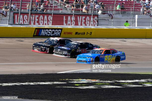 Shane Lee Richard Childress Racing Chevrolet Camaro ZL1 Chase Briscoe Roush Fenway Racing Ford Mustang and Spencer Gallagher GMS Racing Chevrolet...