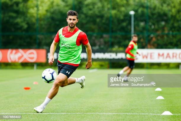 Shane Long during a Southampton FC training session at Staplewood Complex on July 30 2018 in Southampton England
