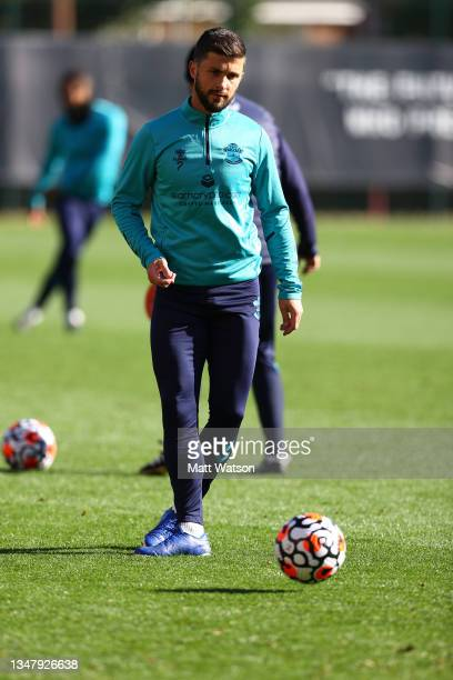 Shane Long during a Southampton FC training session at the Staplewood Campus on October 21, 2021 in Southampton, England.