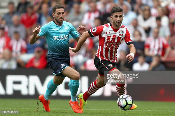 Shane Long of Southampton in action during the Premier League match between Southampton and Swansea City at St Mary's Stadium on September 18 2016 in...