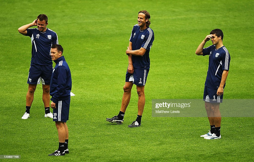 West Bromwich Albion Training and Press Conference
